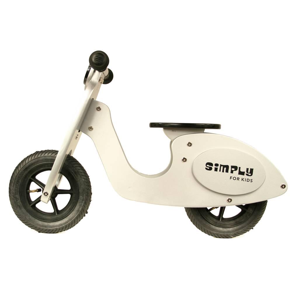 Simply for Kids Loopfiets zilverkleurige scooter