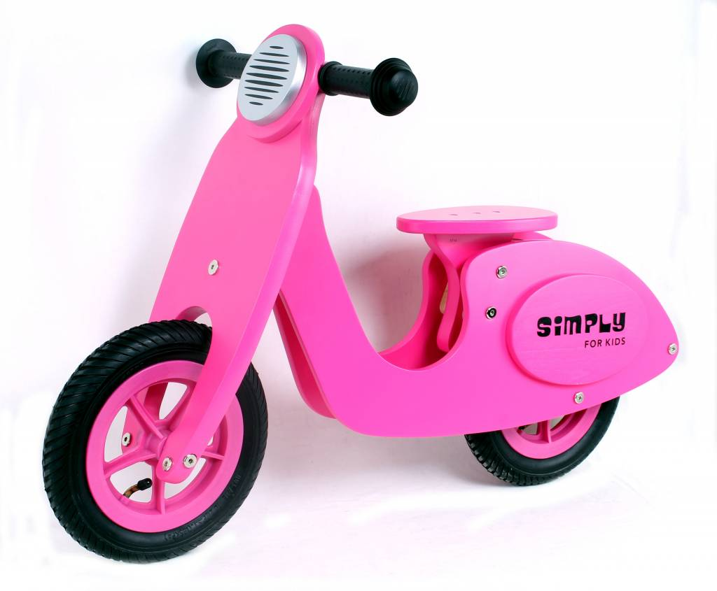 Simply for Kids Loopfiets roze scooter