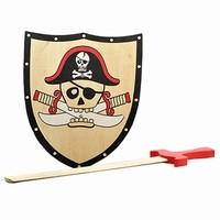 Playwood Piratenschild met Zwaard op kaart