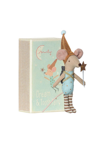 Maileg Mouse, Tooth Fairy In Box, Boy