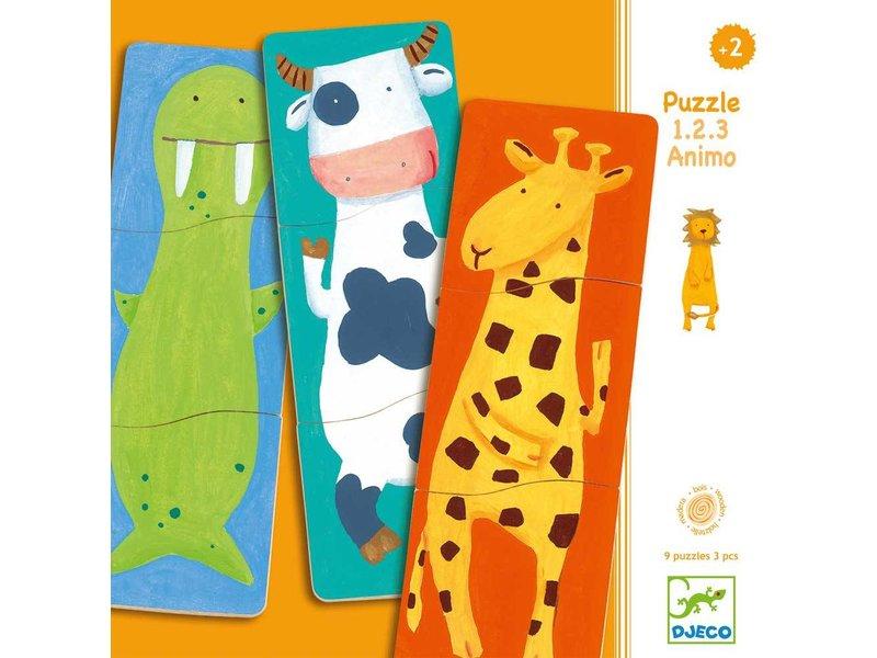 Djeco 3er Holzpuzzle - 1.2.3.Amino