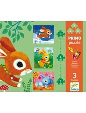 Djeco Puzzle - Rabbits - 3, 4, 5 pcs