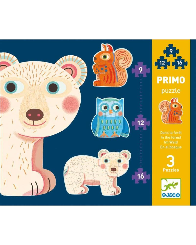 Djeco Puzzle - In the forest - 9, 12, 16 pcs