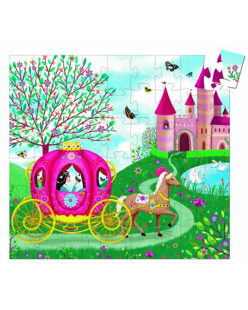 Djeco Silhouettenpuzzle - Elise´s Carriage 54 pcs