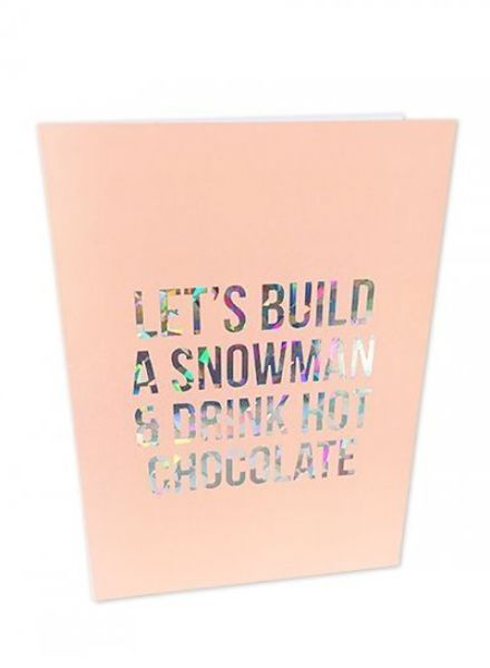 Studio Stationery Greeting card Let's build a snowman
