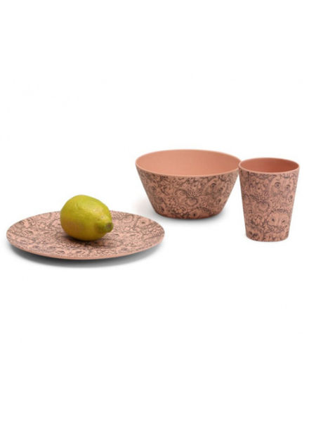 soft gallery Tableware - AOP Owl Coral
