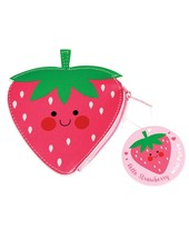 Dotcomgiftshop HELLO STRAWBERRY VINYL PURSE