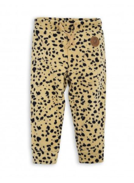 Mini Rodini FLEECE SPOT TROUSERS - beige