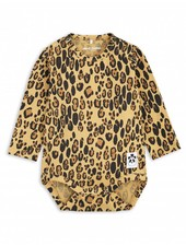 Mini Rodini Basic Leopard LS Body - Beige