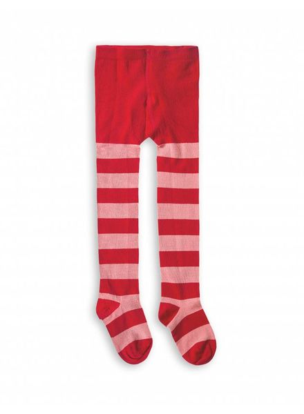 Mini Rodini Stripe Tights - Red