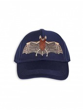 Mini Rodini Bat Embroidery Cap - Navy