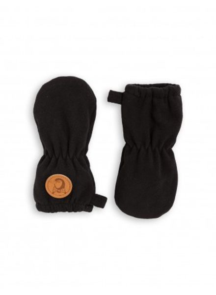 Mini Rodini Fleece Baby Mittens - Black