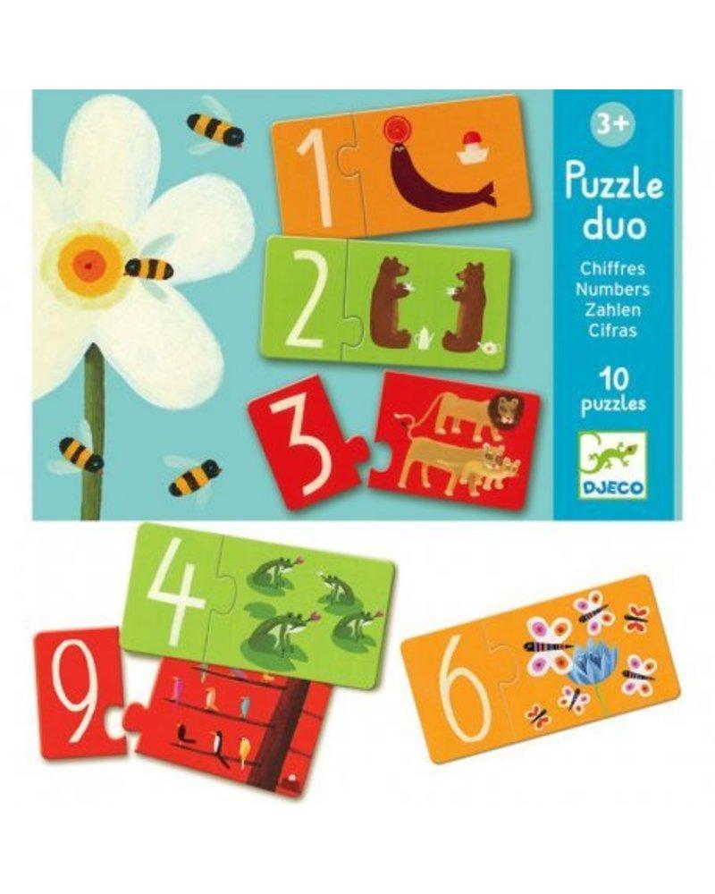 Djeco Puzzle Duo - Zahlen