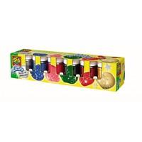 Plakkaatverf in glitter kleuren SES 6x50 ml