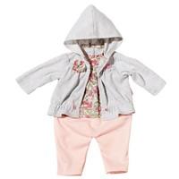 Kledingset op hanger Baby Annabell grijs