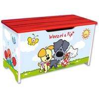 Speelgoedkist hout Woezel en Pip: vriendjes