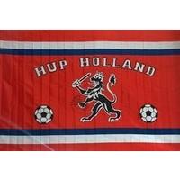 Vlag holland leeuw en voetballen: 100x150 cm