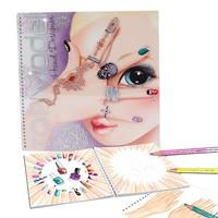 Create hand design colouring book Top Model