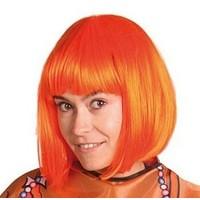 Pruik holland oranje bob-line