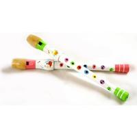 Blokfluit wit/deco Simply for Kids 32 cm