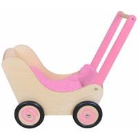 Poppenwagen roze Simply for Kids 60x32x55 cm