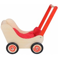 Poppenwagen rood Simply for Kids 60x32x55 cm