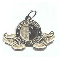Hanger feyenoord zilver logo/schoenen groot