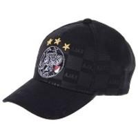 Cap ajax senior zwart oude logo all-over