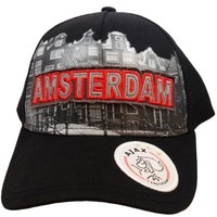 Cap ajax senior zwart skyline Amsterdam