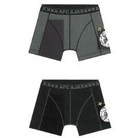 Boxershort ajax zw/gr oude logo 2-pack