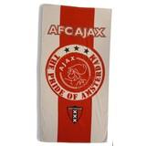 Badlaken ajax rood/wit 75x150 cm