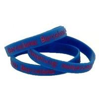 Armbandje rubber blauw Barcelona