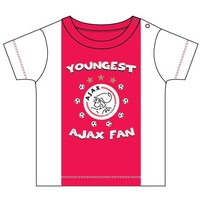 Baby t-shirt ajax rood/wit youngest fan