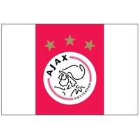 Vlag ajax groot 100x150 cm rood/wit logo
