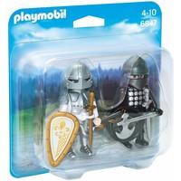 Duopack zwarte en zilveren ridder Playmobil