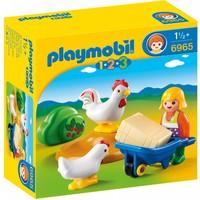 Boerin met haan en kip Playmobil