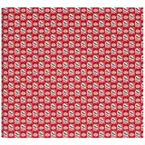 Kaftpapier psv rood/wit blow: 2x 70x100 cm