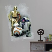 Muursticker Star Wars VII: Robots