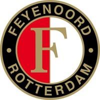 Sticker feyenoord classic logo groot: 18 cm