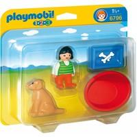 1.2.3 Meisje met haar hond Playmobil