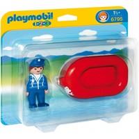1.2.3 Zeeman met rubberboot Playmobil