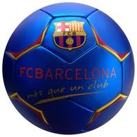 Bal barcelona leer groot blauw metallic logo V2