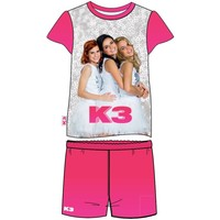 Shortama K3 roze/wit all-over