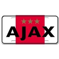 Nummerplaat ajax rood/wit