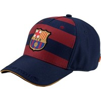 Cap barcelona rood/blauw junior: stripes