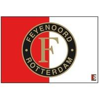 Vlag feyenoord groot 150x220 cm rood/wit logo