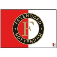 Vlag feyenoord groot 100x150 cm rood/wit logo