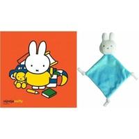 Knuffeldoekje mini Nijntje met kaart: blauw