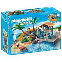 Vakantie eiland met strandbar Playmobil