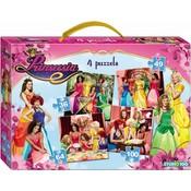Puzzel Prinsessia 4 in 1: 36/49/64/100 stuks